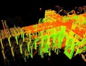 Frame dal video 'Laser Scanning Reveals Cathedral's Mysteries' del National Geographic, via Youtube (ANSA)
