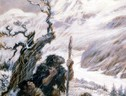 Il dipinto Snowbound, di Charles R. Knight (ANSA)