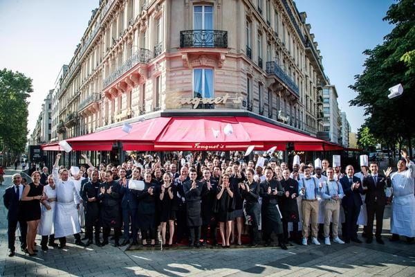 Reoping of the Fouquet's restaurant in Paris © EPA