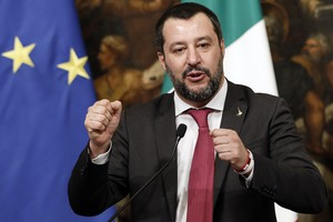 Italian Deputy Premier and Interior Minister, Matteo Salvini, attends a press conference after a Cabinet at Chigi Palace in Rome, Italy, 17 January 2019. (ANSA)