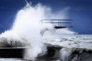 Storm Ciara hits Switzerland (ANSA)