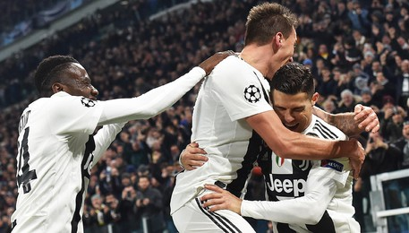 Champions League soccer match Juventus vs Valencia