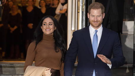 Duke and Duchess of Sussex at Canada House in London (ANSA)